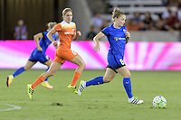 Houston, TX - Sunday Sept. 25, 2016: Morgan Brian, Kim Little during a regular season National Women's Soccer League (NWSL) match between the Houston Dash and the Seattle Reign FC at BBVA Compass Stadium.
