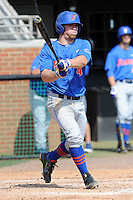 Florida Gators shortstop Nolan Fontana #4 swings at a pitch  during a game against the Tennessee Volunteers at Lindsey Nelson Stadium, Knoxville, Tennessee April 14, 2012. The Volunteers won the game 5-4  (Tony Farlow/Four Seam Images)..