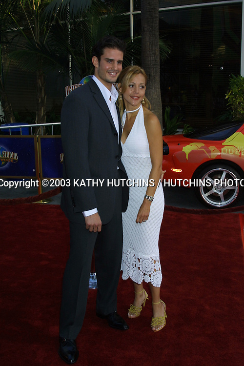 ©2003 KATHY HUTCHINS / HUTCHINS PHOTO AGENCY.WORLD PREMIERE OF 2 FAST 2 FURIOUS.UNIVERSAL AMPHITHEATER.UNIVERSAL CITY, CA.JUNE 3 , 2003..EDWARD FINLEY.LISA BARROSA
