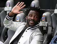 Swansea City's Wilfried Bony looks on from the bench <br /> <br /> Photographer Ian Cook/CameraSport<br /> <br /> The EFL Sky Bet Championship - Swansea City v Nottingham Forest - Saturday 15th September 2018 - Liberty Stadium - Swansea<br /> <br /> World Copyright &copy; 2018 CameraSport. All rights reserved. 43 Linden Ave. Countesthorpe. Leicester. England. LE8 5PG - Tel: +44 (0) 116 277 4147 - admin@camerasport.com - www.camerasport.com