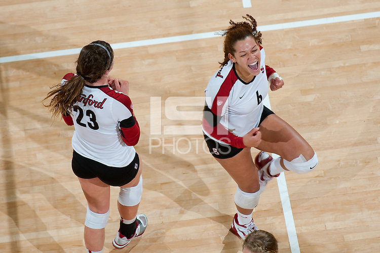 STANFORD, CA-NOVEMBER 8, 2012 - Stanford defeats Washington State at Maples Pavilion in four sets.