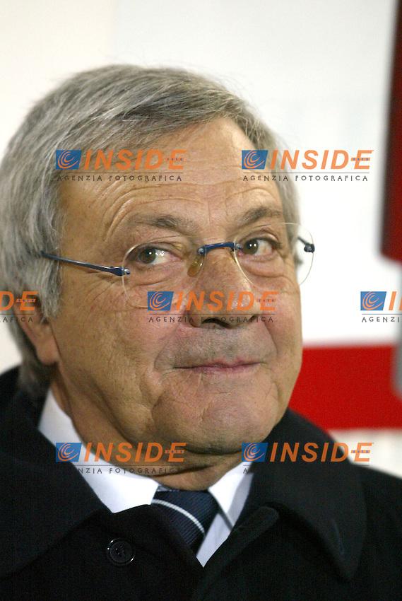 Siena 29/11/2003 <br /> Siena Lazio 3-0 <br /> Il Presidente della Lazio Ugo Longo<br /> Foto Andrea Staccioli Insidefoto