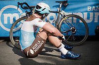 Nans Peters (FRA/AG2R - La Mondiale) at the finish in L'Aquila<br /> <br /> Stage 7: Vasto to L'Aquila (180km)<br /> 102nd Giro d'Italia 2019<br /> <br /> ©kramon