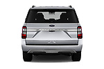 Straight rear view of a 2018 Ford Expedition Limited 5 Door SUV stock images