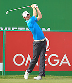 Chris Wood (ENG) in action during the first round of the 2013 Omega Dubai Desert Classic being played over the Majlis Golf Course, Emirates Golf Course from 31st January to 3rd February 2013: Picture Stuart Adams www.golftourimages.com/www.golffile.ie:  31st January 2013