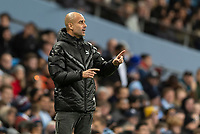 Manchester City Manager Pep Guardiola during the UEFA Champions League Group C match between Manchester City and Shakhtar Donetsk at the Etihad Stadium on November 26th 2019 in Manchester, England. (Photo by Daniel Chesterton/phcimages.com)