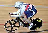 CALI – COLOMBIA – 28-02-2014: Joanna Rowsell de Gran Bretaña durante la prueba de Persecucion Individual Damas en el Velodromo Alcides Nieto Patiño, sede del Campeonato Mundial UCI de Ciclismo Pista 2014. / Joanna Rowsell of Great Britain during the test of the Women´s Individual Persuit at the Alcides Nieto Patiño Velodrome, home of the 2014 UCI Track Cycling World Championships. Photos: VizzorImage / Luis Ramirez / Staff.