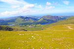 Llyn Cwellyn landscape from Mount Snowdon, Gwynedd, Snowdonia, north Wales, UK