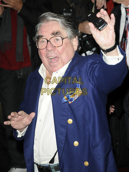 RONNIE CORBETT .Attends the 'Burke and Hare' World Premiere at The Chelsea Cinema, Kings Road, Chelsea, London, England, UK, 25th October 2010..half length blue navy blazer glasses hand waving white shirt .CAP/CAN.©Can Nguyen/Capital Pictures.