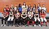 The Newsday All-Long Island softball team poses for a group photo at company headquarters on Thursday, June 16, 2016. FRONT ROW, FROM LEFT: Courtney Greene of East Islip, Marissa Rizza of Eastport-South Manor, Lové Drumgole of Mount Sinai, Sarah Cornell of Clarke (Player of the Year), Nicole Zukowski of Patchogue-Medford, Darby Pandolfo of Massapequa and Janae Barracato of Sacred Heart. BACK ROW, FROM LEFT: Coach Theresa Longenecker of Sacred Heart, Brianna Pinto of Carey, Jess Budrewicz of MacArthur, Nahtica Shepherd of North Babylon, Alyssa Bluethgen of Commack, Crista San Antonio of East Meadow, Sarah McKeveny of Connetquot, Nicole Imhof of Calhoun and Coach Harold Cooley of Commack.