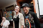 Jazz singer Steffany Johnston with artist, Phillip Perez