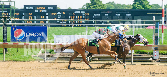 Forged Signature winning at Delaware Park on 8/14617