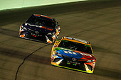 #18: Kyle Busch, Joe Gibbs Racing, Toyota Camry M&M's and #11: Denny Hamlin, Joe Gibbs Racing, Toyota Camry FedEx Express