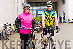 Marie and Dara Lenihan (Kilcummin) at the start of the Dingle Peninsula Cycling Challenge on Saturday morning.