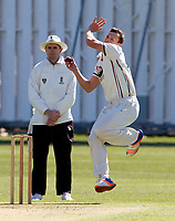 Will Gidman bowls for Kent during the friendly game between Kent CCC and Surrey at the St Lawrence Ground, Canterbury, on Thursday Apr 5, 2018