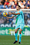 Sergio Busquets Burgos of FC Barcelona reacts during the La Liga 2017-18 match between CD Leganes vs FC Barcelona at Estadio Municipal Butarque on November 18 2017 in Leganes, Spain. Photo by Diego Gonzalez / Power Sport Images