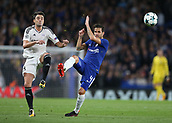 12th September 2017, Stamford Bridge, London, England; UEFA Champions League Group stage, Chelsea versus Qarabag FK; Michel of Qarabag FK and Cesc Fabregas of Chelsea compete for the ball