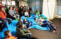 Nederland -  Rotterdam - mei 2019. Expeditie NEXT is hét Nationale Wetenschapsfestival waar jong en oud antwoord kunnen vinden op al hun vragen. Tijdens Expeditie NEXT kan iedereen 12 uur lang wetenschap beleven in en rondom de Maassilo in Rotterdam.      Foto mag niet in negatieve / schadelijke context gepubliceerd worden.    Foto Berlinda van Dam / Hollandse Hoogte