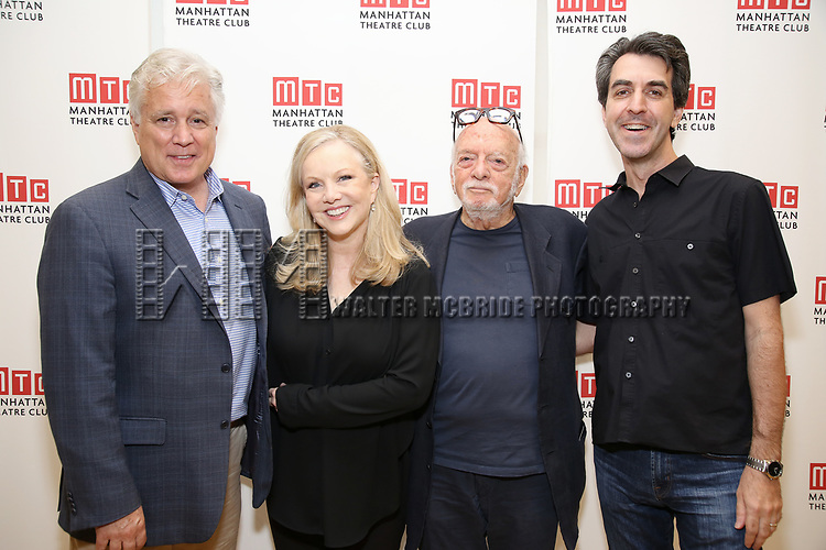 David Thompson, Susan Stroman, Hal Prince and Jason Robert Brown attend the Meet & Greet for the Manhattan Theatre Club's Broadway Premiere of 'Prince of Broadway' at the MTC Studios on July 20, 2017 in New York City.
