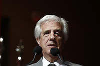 SÃO PAULO, SP, 21.11.2016 - LIDE-SP - Tabaré Vazquez, presidente do Uruguai, durante almoço-debate promovido pelo LIDE (Grupo de alicerces Empresariais) no hotel Grand Hyatt, na tarde desta segunda-feira, 21. (Foto: Adriana Spaca/Brazil Photo Press)