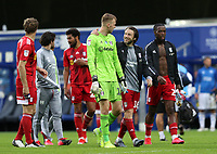 Marek Rodak of Fulham and Harry Arter of Fulham celebrates their win over Queens Park Rangers during Queens Park Rangers vs Fulham, Sky Bet EFL Championship Football at the Kiyan Prince Foundation Stadium on 30th June 2020