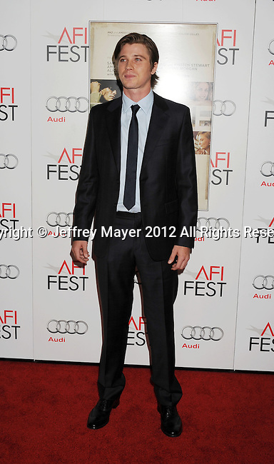 LOS ANGELES, CA - NOVEMBER 03: Garrett Hedlund  arrives at the 2012 AFI FEST - 'On The Road' Gala Screening at Grauman's Chinese Theatre on November 3, 2012 in Hollywood,