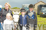 JUMPS: Taken a break from the jumps at the Kerry Pony Club Show Jumpinh in Blennerville on Sunday. l-r: Sinead and Abina McSweeney (Castleisland), Samanta O'Hara-Smith (Beal)) and Fionnuala Keane (Causeway).....