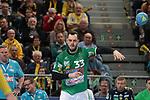 G&ouml;ppingens Jens Sch&ouml;ngarth (Nr.33) beim Spiel in der Handball Bundesliga, Rhein Neckar Loewen - FRISCH AUF! Goeppingen.<br /> <br /> Foto &copy; PIX-Sportfotos *** Foto ist honorarpflichtig! *** Auf Anfrage in hoeherer Qualitaet/Aufloesung. Belegexemplar erbeten. Veroeffentlichung ausschliesslich fuer journalistisch-publizistische Zwecke. For editorial use only.