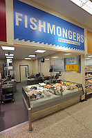 The fishmonger counter
