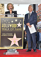 LOS ANGELES, CA. November 06, 2018: Jane Fonda &amp; Michael Douglas at the Hollywood Walk of Fame Star Ceremony honoring actor Michael Douglas.<br /> Pictures: Paul Smith/Featureflash