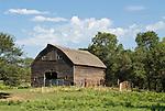 Rustic wooden barn, Nebraska.