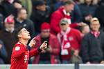 09.03.2019, Allianz Arena, Muenchen, GER, 1.FBL,  FC Bayern Muenchen vs. VfL Wolfsburg, DFL regulations prohibit any use of photographs as image sequences and/or quasi-video, im Bild Jubel nach dem Tor zum 3-0 durch James Rodriguez (FCB #11) <br /> <br />  Foto &copy; nordphoto / Straubmeier