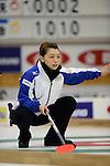 Mari Motohashi (LS Kitami), SEPTEMBER 13, 2013 - Curling : Olympic qualifying Japan Curling Championships Women's Round Robin Match between Fortius 9-3 LS Kitami at Dogin Curling Stadium, Sapporo, Hokkaido, Japan. (Photo by Hitoshi Mochizuki/AFLO)