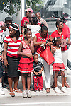 Patriotic Spectators watching Independence Day 2010, Port of Spain parade outside NAPA