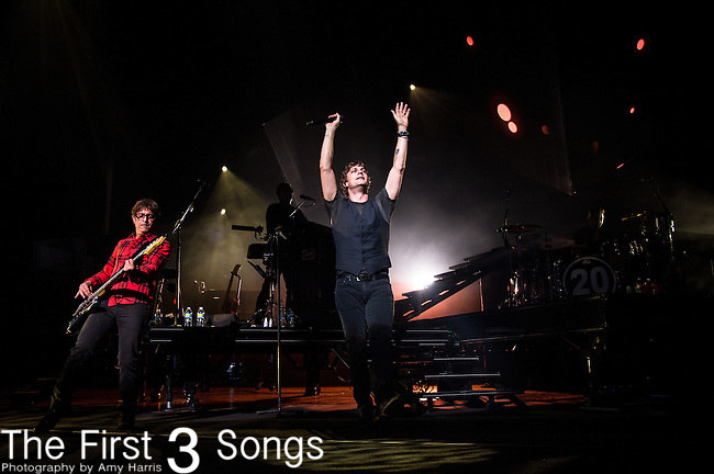 Rob Thomas of Matchbox Twenty performs at Riverbend Music Center in Cincinnati, Ohio.