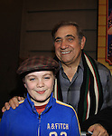 "One Life To Live Dan Lauria poses with castmate Joe West as Joe makes his Broadway Debut as ""Ralphie"" in A Christmas Story The Musical on November 21, 2012 at the Lunt-Fontaine Theatre, New York City, New York. (Photo by Sue Coflin/Max Photos)"