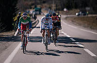 Alexander Kristoff  (NOR/UAE) &amp; Arnaud D&eacute;mare (FRA/Groupama-FDJ) powering the breakaway<br /> <br /> 76th Paris-Nice 2018<br /> stage 6: Sisteron &gt; Vence (198km)