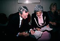April 1988 File Photo - Paul Desmarais (L) and Saydie Bronfman (R)<br /> <br /> Desmarais passed away October 2013