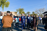 Las Vegas, NV - FEBRUARY 15: Joe Biden and Jill Biden at Doolittle Community Center ahead of for the first day of early voting in North Las Vegas, Nevada on February 15, 2020.    <br /> CAP/MPI/DAM<br /> ©DAM/MPI/Capital Pictures