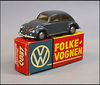 BNPS.co.uk (01202 558833)<br /> Pic: Astons/BNPS<br /> <br /> An early LEGO plastic Volkswagen Beetle.<br /> <br /> A retired historian's remarkable collection of 700 toy cars has sold for almost &pound;100,000.<br /> <br /> Anders Clausager, 67, amassed so many toy cars over the past 60 years he got his own auction to off-load them.<br /> <br /> A collector from Sheffield paid &pound;2,100 for a pack of 12 Lego miniatures set, while a prestigious French Dinky Toys set went for &pound;1,450 and a Corgi Toys set went for &pound;850 at the auction in Dudley.
