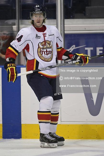 QMJHL (LHJMQ) hockey profile photo on Acadie-Bathurst Titan Olivier Houle November 21, 2012 at the Colisee Pepsi in Quebec city.