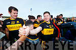Kieran O'Leary, Eoin Brosnan Dr Crokes celebrate after winning the Kerry County Senior Club Football Championship Final match between Dr Crokes and Dingle at Austin Stack Park in Tralee, Kerry on Sunday.