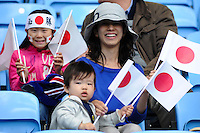 28.07.2012 Coventry, England.  Japan team fans inside stadium before the Olympic Football Women's Preliminary game between Japan and Sweden from the City of Coventry Stadium