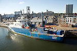 GeoBay DCF subsea ship, Port harbour, Aberdeen, Scotland