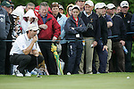 Padraig Harrington lines up his putt on the 1st hole during the final round of the Irish Open on 20th of May 2007 at the Adare Manor Hotel & Golf Resort, Co. Limerick, Ireland. (Photo by Eoin Clarke/NEWSFILE)
