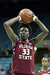 31 January 2013: Florida State's Natasha Howard. The University of North Carolina Tar Heels played the Florida State University Seminoles at Carmichael Arena in Chapel Hill, North Carolina in an NCAA Division I Women's Basketball game. UNC won the game 72-62.