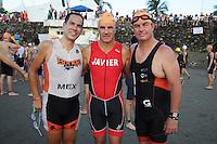 Triatlón Sports World Veracruz 2013- Fernando García, Javier Belauste, Tomás Cabrejas. ©NortePhoto.com ..<br /> YahirCeballos/NortePhoto