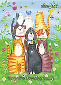 Kate, CUTE ANIMALS, LUSTIGE TIERE, ANIMALITOS DIVERTIDOS, paintings+++++Chirpy cats and dogs,GBKM103,#ac#, EVERYDAY ,cat,cats