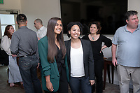 Asha Hanstad '19<br /> Krystale Littlejohn<br /> Students, faculty and staff gather on Thursday, May 2, 2019 in the JSC Morrison Lounge for the Sociology Senior Comps presentations, awards ceremony, and year-end celebration.<br /> (Photo by Marc Campos, Occidental College Photographer)
