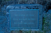 Tidal Wave Plaque, Kodiak Island, Alaska, US